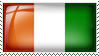 Ivory Coast Flag Stamp by l8