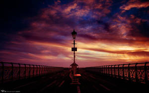 Pier Into The Dawn by l8