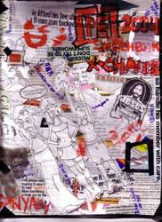 PE Sketchbook Exchange Cover by sanya