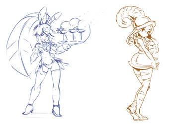Minette and Nautilus Girl by aufreizen