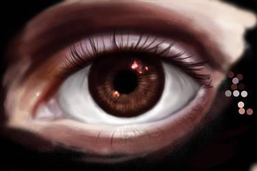 Unfinished Sparkling Eye by dark-a-crystal