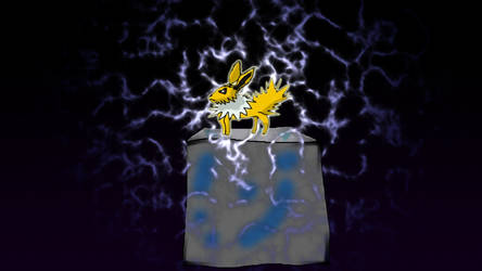 Jolteon and the cube by GameInnovator