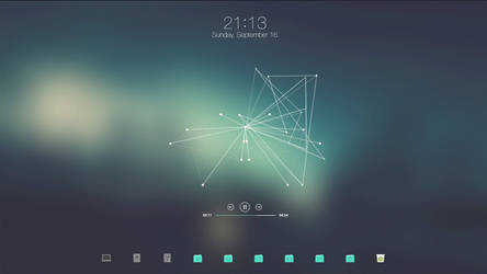 Cyan Desktop // September 2018 by Crussong