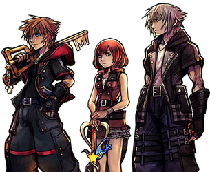 Kingdom Hearts III - Group Render by Crussong