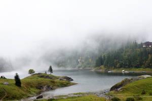 Lac de Tanay - Fog 06 by ALP-Stock
