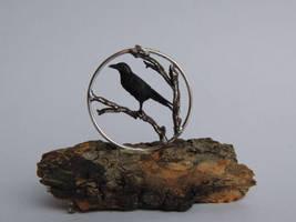 Crow Talisman by AnyaStone