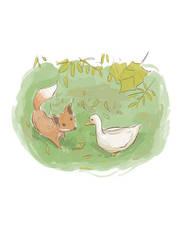 the duck and the fox by kajipato