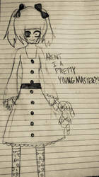 Aren't I a pretty young master?! by Bella-the-emo-kid