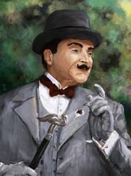 David Suchet as Hercule Poirot by bar-t