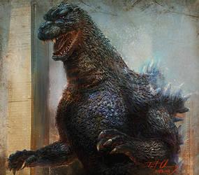 Heisei Godzilla by cheungchungtat