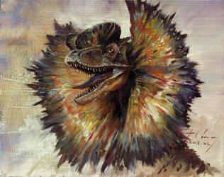 Study of JP Dilophosaurus Head by cheungchungtat