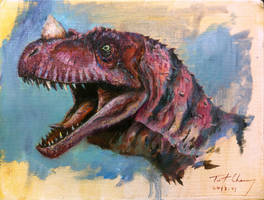 Study of JP3 Ceratosaurus Head by cheungchungtat