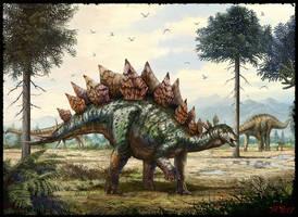 Stegosaurus stenops by cheungchungtat