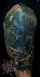 Moshkin  Ruslan tattoo artist 300 sparta warior ar by HammersmithTattoo