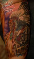 Moshkin  Ruslan tattoo artist americannative reali by HammersmithTattoo