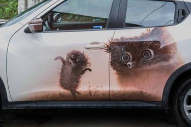 Hedgehog in the Fog by aiRMaster777