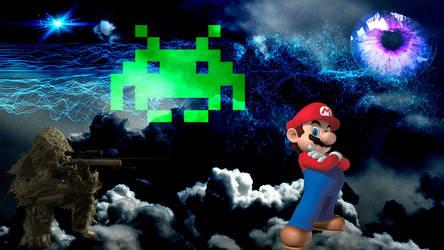 Mario + CoD + Space Invaders by acharluk