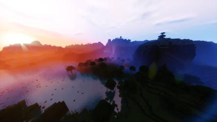 Minecraft Shaders Wallpaper by acharluk