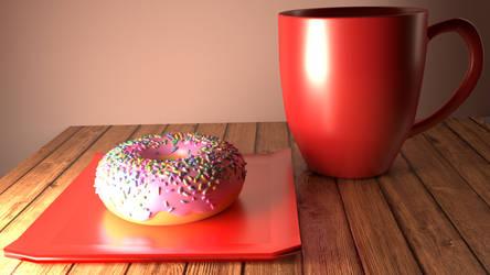Donut Scene Blender Test by acharluk