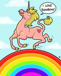 I love rainbows. by StressedJenny