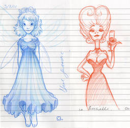 Fairy and Vampire by StressedJenny