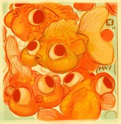 Goldfish by StressedJenny