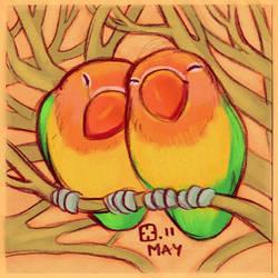 Lovebirds by StressedJenny