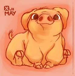 Micro Pig by StressedJenny