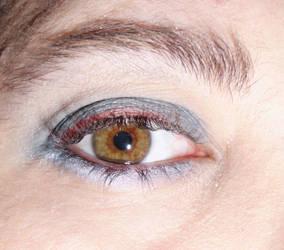 Central Heterochromia by GothicRavenGoddess