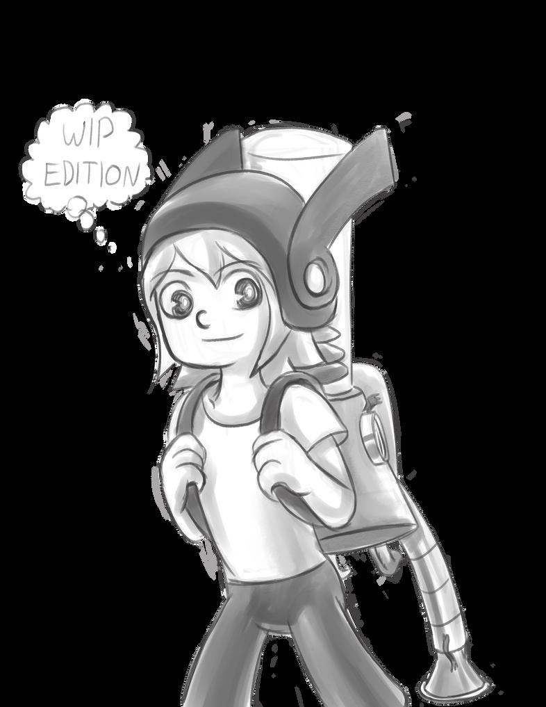 Zine 3 char art WIP Ed by mosobot64
