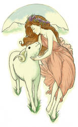 Curucar's Goat and Girl by angeline-M