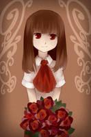 red rose by gehirnkaefer