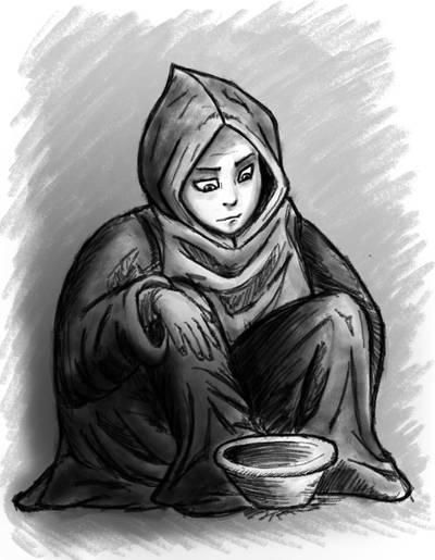 Ryuutama beggar by FrahDesign