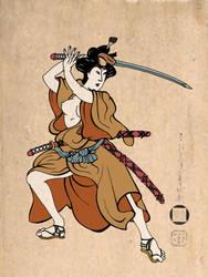 Samurai-Geisha by KEKIONE
