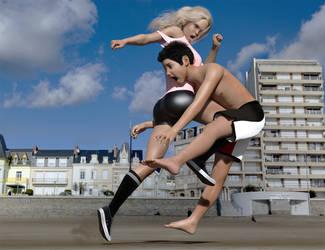 Full speed knee by xTAMAKERIx