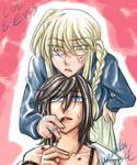 Lin and Eris by wazabi34