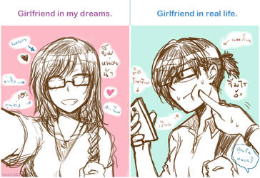 Dream vs. Real life by wazabi34