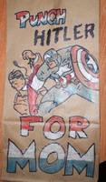 Cap vs Hitler Lunchbag by DocDestructo