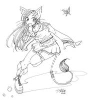 Catgirl by leakymuffin