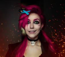 Zombie Slayer Jinx by Helen-Stifler