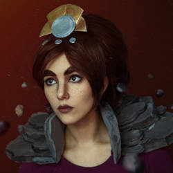 Taliyah, the Stoneweaver makeup by Helen-Stifler