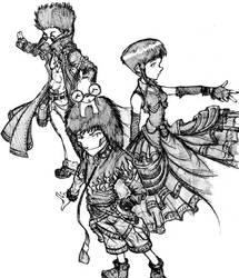 DarkSide: Kiba, Hinata, Shino by kupidkilla