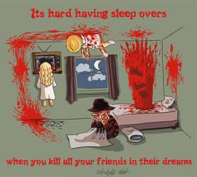 It's hard having sleep overs... by kupidkilla