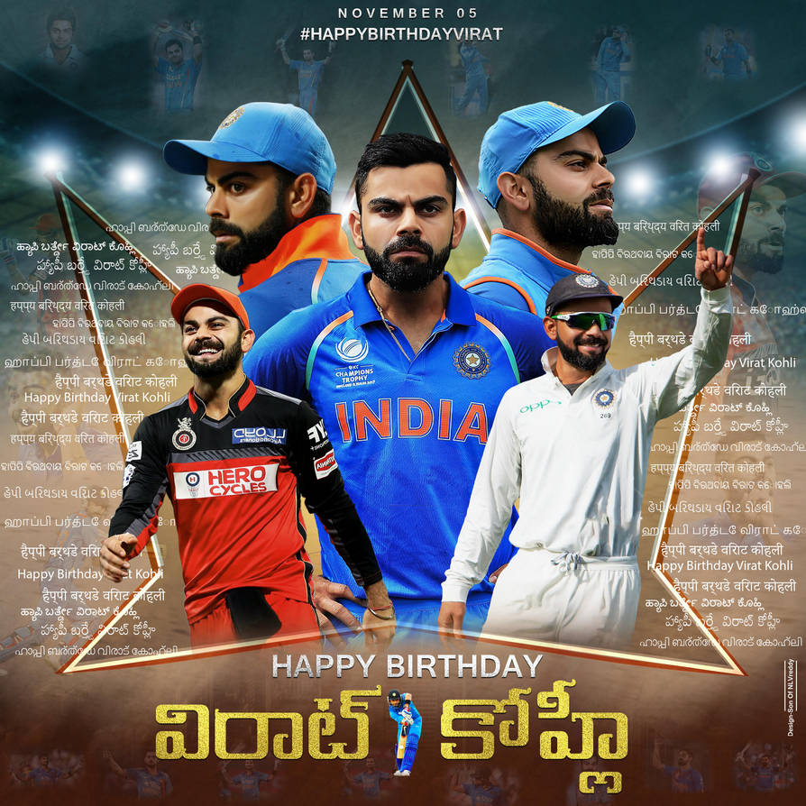 Virat Kohli Hd Birthday Common Dp 2018telugu By Sanjaybhargavreddy