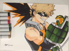 My Hero Academia: Katsuki Bakugou   Art by Bridget by ArtbyBridget