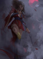 Bloodmoon Akali Re-paint by Tony31892