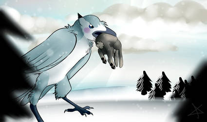 Snowy Hunting by Aitanx