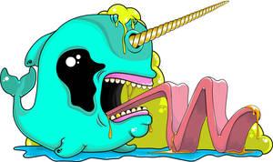 Killer Gnar Whale Sticker Design by socallow