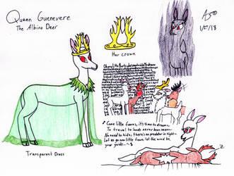 Queen Guenevere the Albino Deer by ZadokEngel