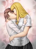 Haruka and Yukino Moment by mandygirl78